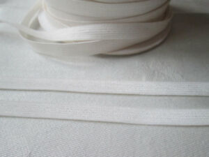 LIGHTWEIGHT FLAT  LINGERIE ELASTIC  ivory or white  8mm wide  /  5 or 10 metres