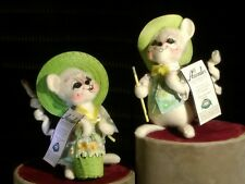 "ANNALEE Spring Girl & Boy Mouse Pair 6""H 2006  EXCELLENT CONDITION NOS"