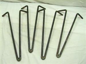 Set 4 Vintage Iron Hairpin Table Furniture Legs Mid-Century Iron Hair Pin