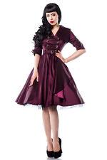 Festliche knielange Damenkleider mit V-Ausschnitt ohne Muster