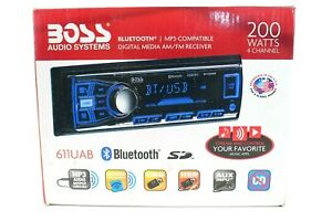 Boss 611UAB Single Din USB/SD AUX Bluetooth Multimedia Car Radio Stereo Receiver