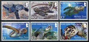 BIOT Turtles Stamps 2016 MNH Sea Turtle Conservation Research Hawksbill 6v Set