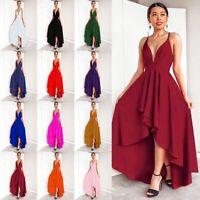 Long V Neck Dress Party Sleeveless Maxi Fashion Evening Womens Casual sundress
