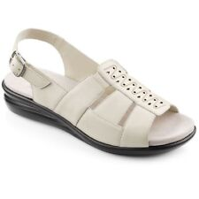 83f27f1fa458 Hotter Candice Ladies Beige Wide Fitting Comfort Sandals RRP 59.00