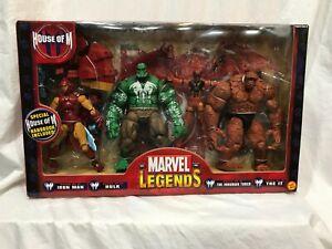 Marvel Legends HOUSE OF M Box of 4 IRON MAN HULK INHUMAN TORCH THE IT NIB