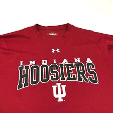 Under Armour Indiana Hoosiers Red Shirt Men's Size M Medium Dry Fit Workout Tee