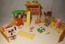 Vintage Barbie Kelly Petting Zoo Lot Animal Figurines Toy Playset Interactive