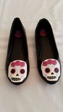 T.U.K. Day Of The Dead Skull Ballerina Flats Women's Size 8 NIB!  **Halloween**