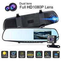 4.3'' 1080P DVR Dashcam Enregistreur vidéo Caméra de Recul Double lentille Auto