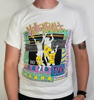 Vintage 1990 TVA Int Championships Volleyball Single Stitch TShirt Men sz Medium