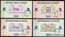 BL24 Rep.d'HAITI  4 feuillets numerotes Le marathon tous pays;Voir description