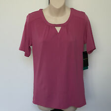 'BLACK PEPPER' BNWT SIZE '8' PINK SHORT SLEEVE TOP WITH DIAMONTE FRONT DETAIL