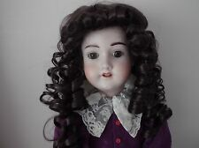 BUY I GET ONE FREE 11-12 inch ECONOMY DOLLS WIG IN DARK BROWN SOFT CURLS