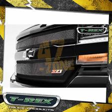 For 16-18 Chevrolet Silverado 1500 Bumper Valance Grille Black Mild Steel Insert