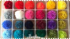 """Handmade wool Pom Poms x10 (approx 1"""") Just Choose Your Colours! SEPT DELIVERY"""