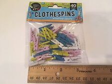 Mini Colored Wood Clothes Pins Arts Crafts Party Accessories 40 Pack, small
