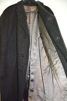 "Vintage Wool Crombie Mens Top Coat John Collier Milium 44"" Chest 40s 50s Wartime"