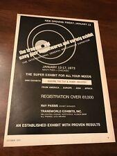 1972 VINTAGE 8X11 PRINT Ad TRANSWORLD NAVY PIER HOUSEWARES VARIETY EXHIBIT TOYS