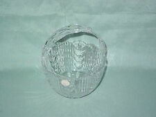 CRYSTAL CLEAR POLISH 24% LEAD CRYSTAL BASKET WITH ORIGINAL LABEL