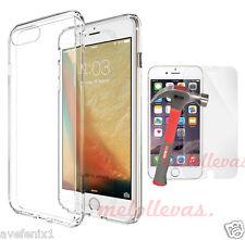 Funda para iPhone 7 (4.7) + Protector Vidrio cristal Gel Transparente