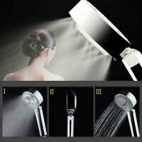 Silver Handheld SPA Shower Rainfall Head Bathroom Water-Saving New Sprayer