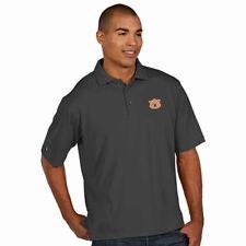 NWT Antigua Auburn Pique Xtra-Lite Performance Polo Shirt - Dark Gray - Small