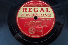 FODEN'S MOTOR WORKS BAND 78 RPM HUNTING MEDLEY REGAL ZONOPHONE MR 1849