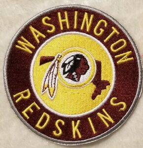 """Washington Redskins 3.5"""" Round Iron On Embroidered Patch ~US Seller~FREE Ship"""