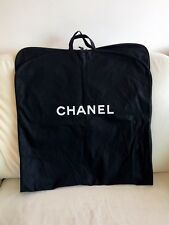"CHANEL BLACK COATED CANVAS SUIT CARRIER GARMENT BAG 49"" NEW!!"
