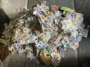 1000 gram 1kg most Sweden stamps 90% ON Paper in 2.2lb pound kilo
