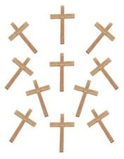 "40 Piece Lot of Natural Color Small Wooden Crucifix Crosses 2"" Tall"