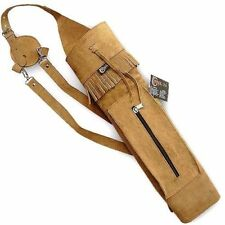 CAROL TRADITIONAL SUEDE LEATHER BACK ARROW QUIVER AQ120