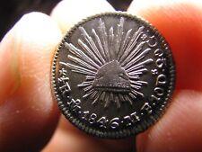 1846 Mexico 1/2 Real Silver Foreign Coin Republica Mexicana