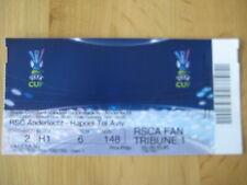 Ticket: Anderlecht - Hapoel Tel Aviv UEFA (25-10-07)