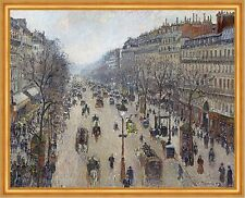 Boulevard Montmartre, morning, cloudy weather Camille Pissarro Paris B a1 00909