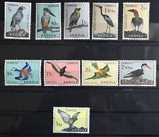 Angola Stamp, 1951 Birds Set MVLH Last Stamp Tiny Tear Great Collection W2-91