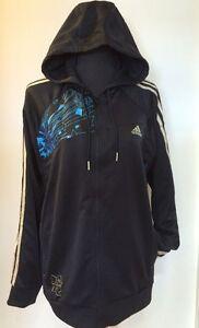Genuine Adidas Hoodie Team GB Black UK XL Tracksuit Jacket Full Zip Olympics