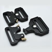 Heavy Duty Quick Side Release Metal Buckle Straps Webbing DIY Tactical Belts-bes
