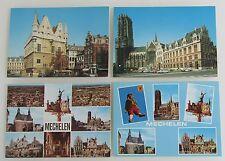 4x MECHELEN Belgium Postcard Belgien Postkarten Lot Ansichtskarten ungebraucht