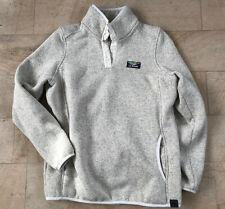 LL Bean beige pullover fleece sweater w side pockets Size Small, S