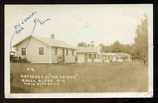 Vintage 1930's Cottages at The Spider Eagle River Wisconsin RPPC Postcard