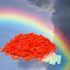 Loom Rubber Band Refills by Bluedot ~ Orange Color 600 bands and 25 S-Clips