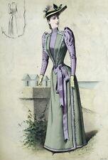 Robe Eleganza Fashion Moda aris Elegante Gourbaud Litografia 19e