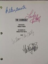 The Exorcist 1973 Signed Film Script Linda Blair Max von Sydow Ellen Burstyn rpt