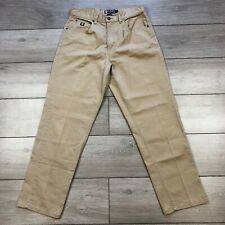 Chaps Ralph Lauren Mens Chinos Casual Trousers Country Pleats Beige W33 L30