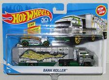 Hot Wheels 2018 Bank Roller Car and Hauler Rig Trailer Set NEW