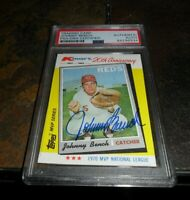1982 Topps KMART #18  JOHNNY BENCH Signed BOLD Cincinnati Reds PSA/DNA Autograph