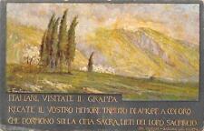 C1370) ITALIANI VISITATE IL MONTE GRAPPA, ILLUSTRATORE G. FONTANA. VG NEL 1933.