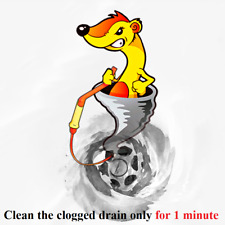 FlexiSnake Drain Weasel Sink Snake -Includes Rotating Handle and 5 Refills+Bonus