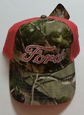 Ford Cap Hat Realtree  Womens Ladies OFFICIAL Licensed Cotton Mesh Camo